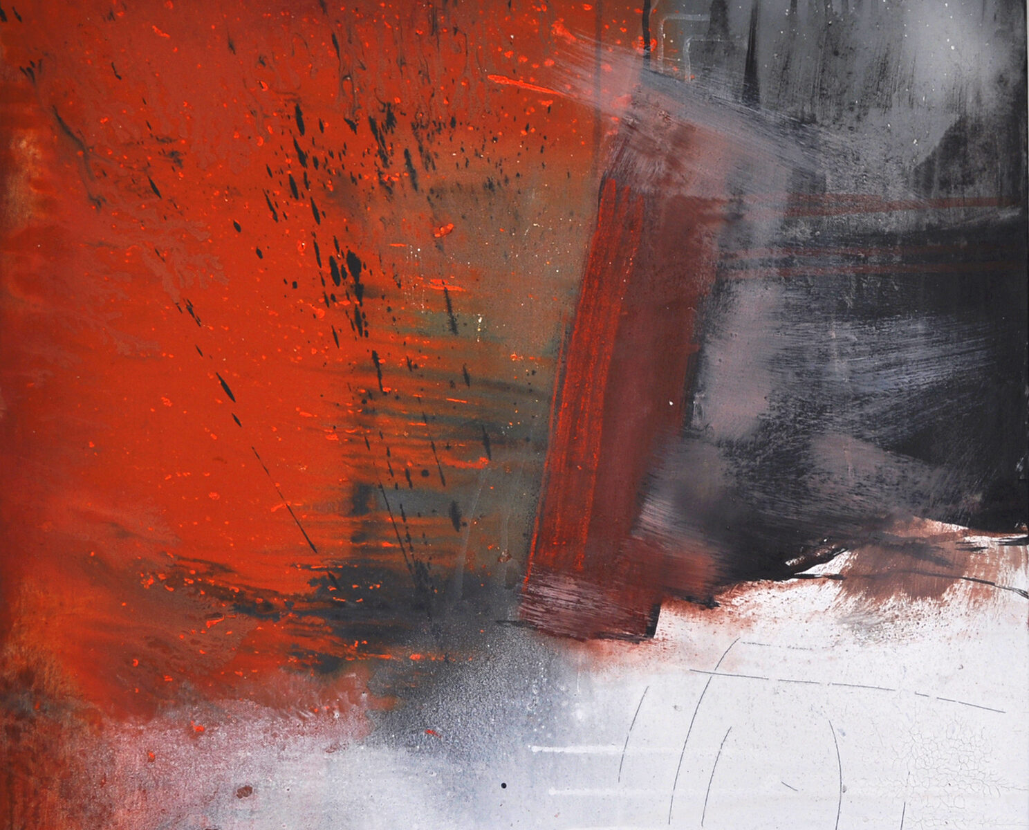 Bush fire Acrylmalerei