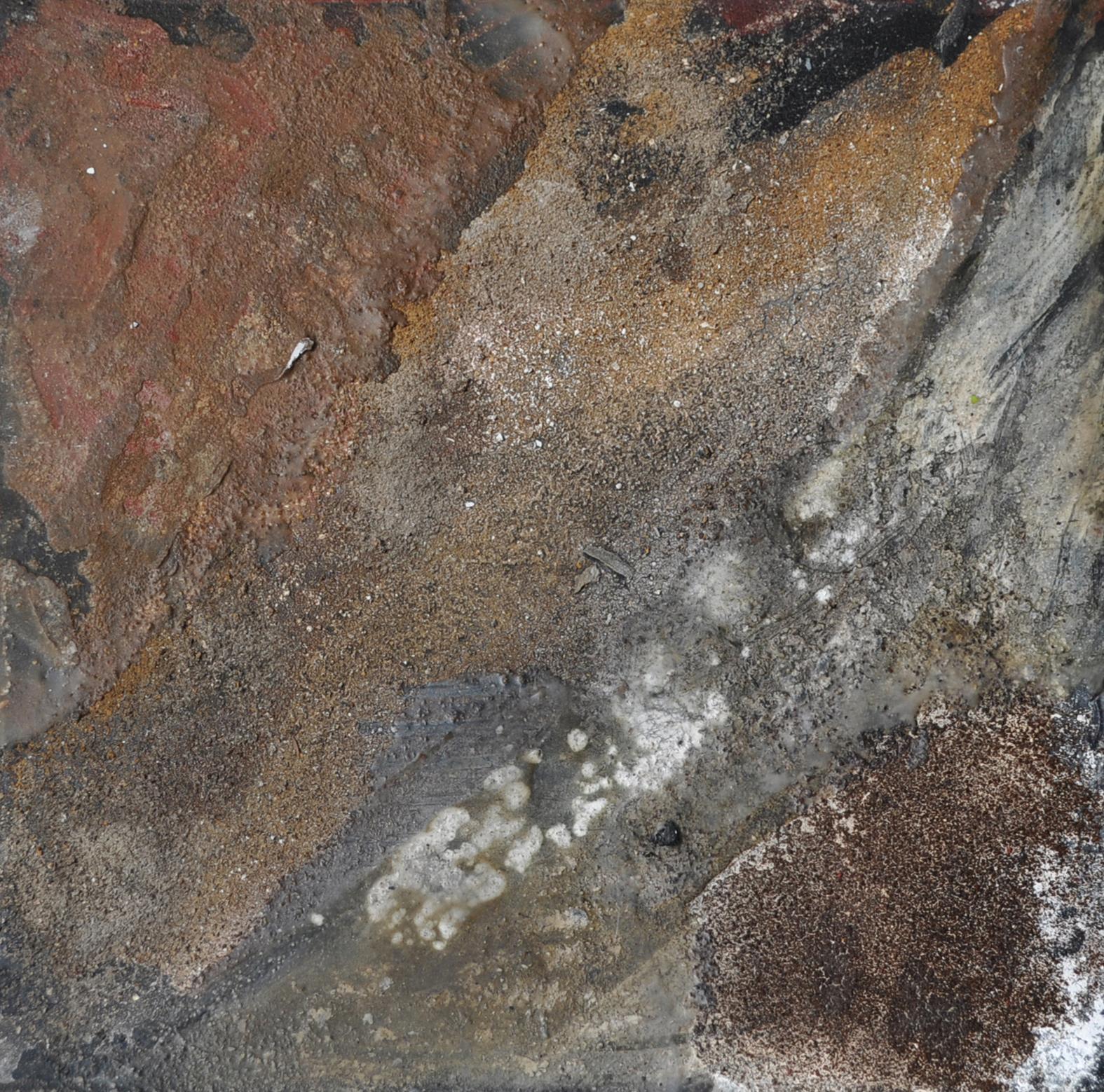 Collage mit verschiedenen Erden und Sanden