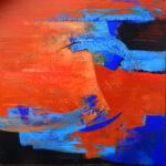 Acryl auf Holzplatte 90 x 90