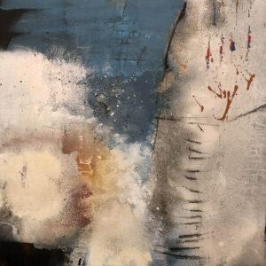 Elements, Acryl Kreide und Marmormehl auf Leinwand