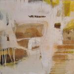 Acryl, Kreide, Marmormehl auf Leinwand 90 x 90